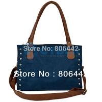 Women's PU Leather Skin Nail Cross-body/ Shoulder Bag/ Hand Bag/ Bucket/ Bag/ Cylinder  8223