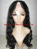 wholesale cheap stock lace front wig free shipping 18'' 1b new style curl virgin indian remy hair glueless human hair U part wig