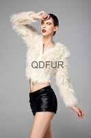 2013 2colors Genuine Real Lamb Fur Jacket Full Sleeves Charm Warm Garment Women's Clothing Coat Free Shipping QD22802