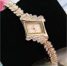 Helen jewelry Free shipping fashion gold diamond Waterproof quartz wrist watch women(China (Mainland))