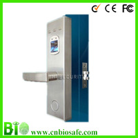 Promotion !!! Fingerprint door Lock HF-LA702 with Stainless stell ,500dpi resolutions 50 Fingerprint Capacity DHL/EMS/Fedex Free