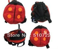 Free Shipping!  5PCS/Lot Baby Kid Keeper Anti-Lost Safety Harness&Baby Bag with Lovely Ladybird