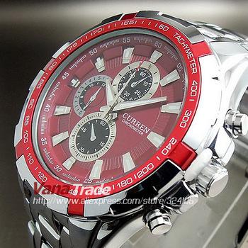 1PCS Promotion! Fashion Men Watch 2014 Tag Brand Watch Adjustable Full Stainless Steel Strap Wrist Men Watch Free Shiping
