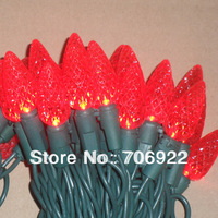 Holiday Sale Free Shipping 10 PCS UL 110V 7M LED Red C6  Strawberry Christmas Tree Lights