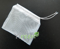Free shipping! 400pcs Nylon Filter Bag 60 X 70mm Transparency Empty Tea Bag Single String Closed For filter Tea Medicine