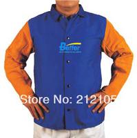 Split Cow Leather Welding Apron Flame Retardant Protective Clothing Fashional Leather Welding Jacket