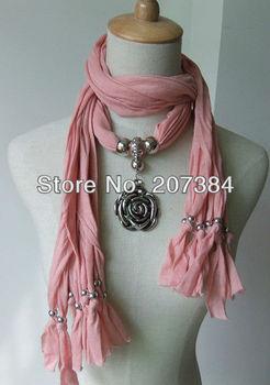Fashion women Jewelry pendant scarf necklace wraps scarves jewelry charms pendant scarf