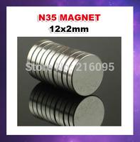 Free shipping500pcs/lot N35 12mm x 2mm  Columns Ndfeb magnet Neodymium Magnets  hot!!!!