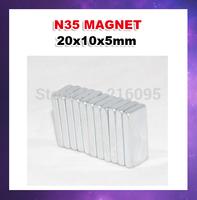 Free shipping 25pcs/lot ndfeb magnet Rectangular 20*10*5mm Direct manufacturers