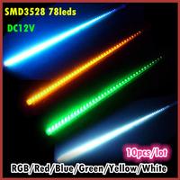 10pcs/lot SMD3528 78leds LED Meteor Rain Shower Light Christmas Tree Decorative Light RGB/ White/Red/Green/Blue/Yellow