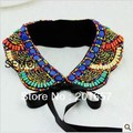 NEW Arrival high quality vintage bohemian colorful wood detachable Collar Necklace Jewelry Apperal accessory multicolor