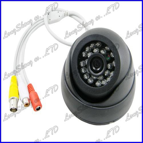 Indoor Sony CCD 600tvl 24IR Surveillance Dome Day&Night CCTV camera Audio(China (Mainland))