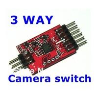 Discount FPV 3 Way Audio Video Switcher By Remote Control AV Signal Three Camera Or DV Switch To The OSD Transmitter RC Airplane