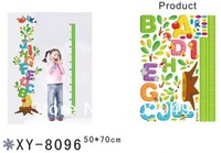 New cute 50x70cm Height stick wholesale cartoon Alphabet Stickers creative decorative wall sticker KW-XY8096