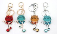 Min.order is $10 (mix order) Free Shipping new arrival high quality colorful cute cat keychain or bag pendant/bag charm MOQ 1pcs