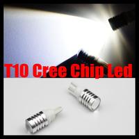 2pcs/Pair/Lot T10 194/168 W5W  3W CREE LED Car Backup Reverse Side Parking Light Bulbs 12-24v