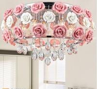 Modern flower shape glass crystal chandelier restaurant light roses shaped lamp shade Dia 480MM Free shipping PL052