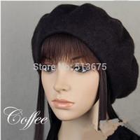 Free Shipping 2014 New Beret luxury pure wool beret fashion women hats fall/winter women fashion beret wool hats