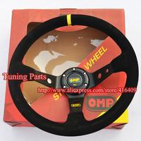 High Performance OMP Steering Wheel 90mm Dish Car Steering Wheel