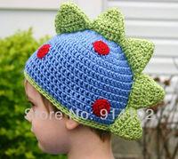 Baby boy's Dinosaur Crochet Hat lovely Newborn Handmade Knitted Cap Toddler modelling hat 6M-18M