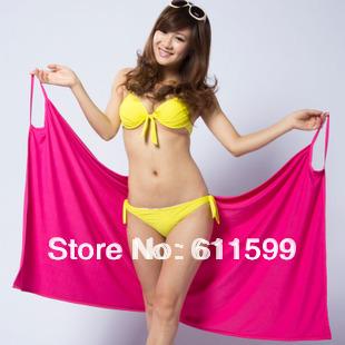 Bath Towel Ladies' Magic Towel Emulation silk  Creative Variety Magic140*70cm Free Shipping