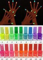 4Pcs/lot New 20 Colors 7ml Fluorescent Neon Nail Art Polish Glow in Dark Nail Varnish  zj-8888
