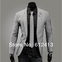 fashion houndstooth cotton british style men's slim small suit leisure two button signl row blazers M,L,XL,XXL XY-B008