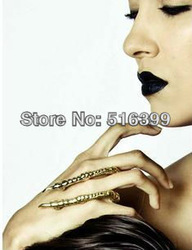 Latest new design antique vintage claw punk alloy rings jewelry free shipping(China (Mainland))