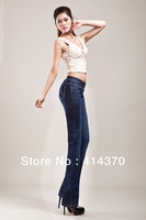 Newest  bigest bigest size ladies' fashion pants brand for iphone jeans blue color high quality free Shipping