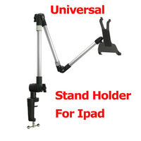 "Free Shipping  7-10.1"" Tablet PC Desk Clip Stand Holder Universal Home Office Stand Clamp Holder Iron Aluminium PA 90cm length"