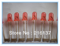 Free Shipping Red Color Oval & Round 5mm LED Diode