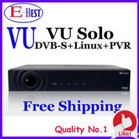 hot selling satellite TV Receiver Vu Solo V3.2 Newest Version v3.2 VU+Solo PVR Linux Smart Single Tuner Digital DVB-S2 HD