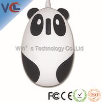 National treasure shape mouse with usb mini wired panda optical mouse