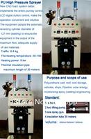 High quality Polyurethane High pressure coating machine and spraying gun