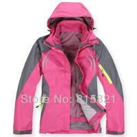 Free Shipping Winter Warm Ski Handsome Hoodies Coat,one in two Waterproof Outdoor Sports Jacket ,Windproof Women's Jackets