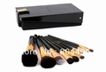 free shipping!! professional   9pcs makeup brush set hig, golden cosmetic brush set