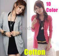 2014 Women Cardigan Sweater Fashion Pullove 100% cotton Free Shipping W4101