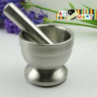 Vintage Stainless Steel Mortar and Pestle Garlic Crusher Grinder Food Press Masher Tools Bowl Kitchenware Free Shipping