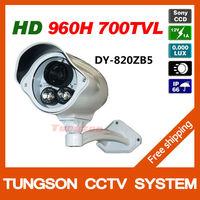 High Resolution Sony ccd 960H Effio 700TVL Outdoor Waterproof Video Surveillance 2*Array IR Night Vision Security CCTV Camera