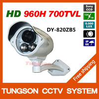 High Resolution 1/3''Sony 960H Effio 700TVL Outdoor Waterproof Video Surveillance 2*Array IR Night Vision Security CCTV Camera