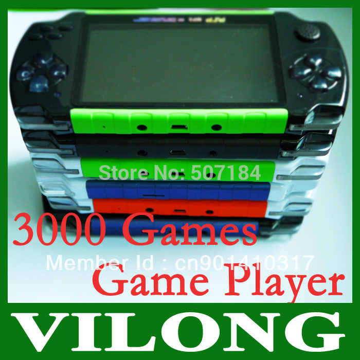"4.3"" TFT LCD Game Console With 4GB MP5 Player Built-in Voice Recorder Camera TV-Out Handheld Game Player(China (Mainland))"