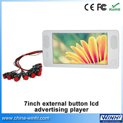 7inch external push button digital advertising screens for sale +Guaranteed 100% +Factory Direc(China (Mainland))