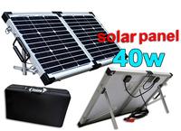 UK STOCK,! 40W 12V Monocrystalline Folding solar panel,full kit,regulator,cable,factory directly,wholesale