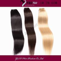 Wholesale Unprocessedl Brazilian Virgin Hair Weave Straight Hair Extension 12 to 26  Inch 3 Pcs/lot Mix Color 100% Human Hair