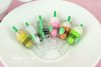 Starbucks coffee cups universal earphone 3.5 mm ear cap dock dust plug dust cap for iPhone cell phone cell phone accessories
