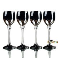 Vintage Black Golden Red White Wine Alcohol Goblet Set Glasses Cup Barware Kitchenware Romantic Class Design Taste Free Shipping