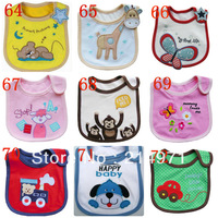 free shipping!!hot sale!!! Baby bib Infant saliva towels carter's Baby Waterproof bib Mark Carter Baby wear  50pcs/lot