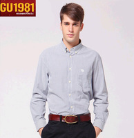 Free shipping 2013 Shirts for men men's cotton long sleeve shirts   two colors for choose  wholesale MCL050