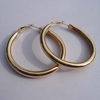 Lowest Price Fashion Lead Nickel Free Gold Tone Hoop Earrings DME010 Magi Jewelry