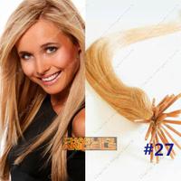 100pieces/lot 40cm,45cm,60cm #27 Blond Color Remy Stick/I Tip Human Hair Extensions 7-8 Colors Optional